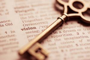 zakelijk succes, teamwerk sleutelbegrip visie foto