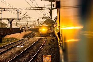 trein inkomend foto