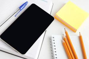 notebook telefoon smartphone kantoor foto