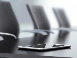 tablet pc op kantoor tafel foto