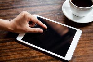 touchscreen van de tablet foto