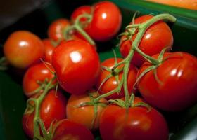 verse tomaten in de supermarkt foto