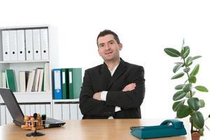 vriendelijke zakenman foto