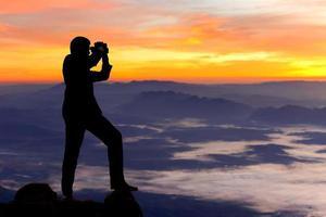 silhouet zakenman foto
