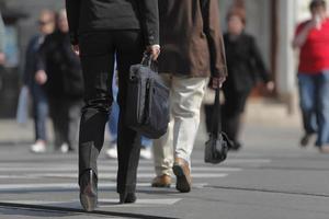 de benen van de zakenvrouw foto