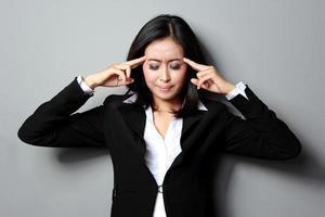 depressieve zakenvrouw foto