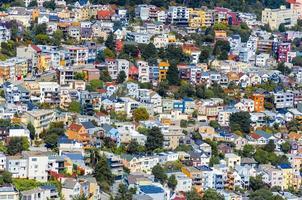 prachtige huizen in San Francisco foto