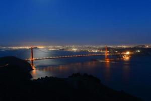 golden gate bridge bij nacht, San Francisco, de VS foto