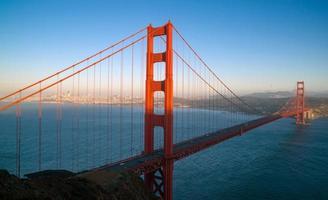 zonsondergang San Francisco Golden Gate Bridge Stille Oceaan westkust foto