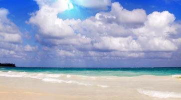 Caraïbisch droomstrand. zomerstrand. foto