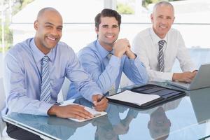 zakelijke team tijdens vergadering foto