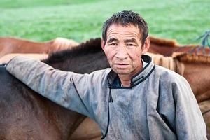Mongoolse ruiter foto