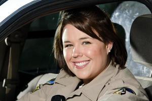 glimlachende officier foto