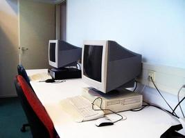 computer op kantoor foto