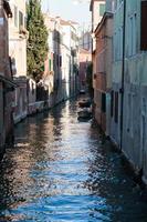 backpacken in Europa, Venetië, Italië foto