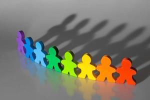 diversiteit en teamwork foto