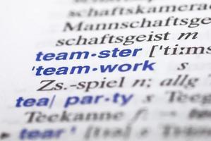 teamwerk - close up foto