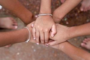 teken van eenheid en team.