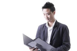 Aziatische man bedrijf foto
