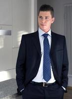 portret van een jonge zakenman foto