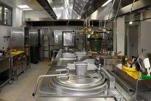typische keuken van een restaurant foto