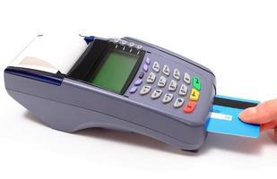 betalen met creditcard, financiënconcept foto