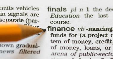 financiën gedefinieerd foto