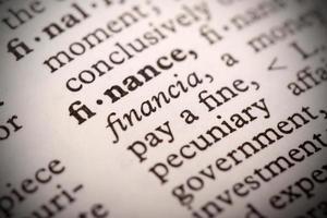financiële definitie foto