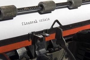 financiële crisis foto