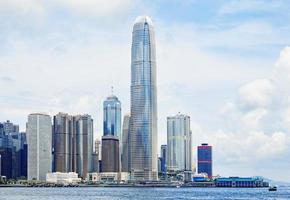 moderne gebouwen in het financiële district van hong kong foto