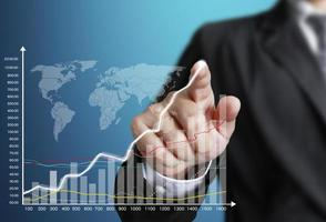 touchscreen financiële symbolen foto