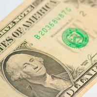 george washington - één dollar foto
