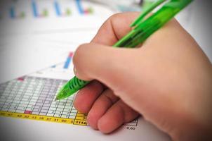 financiële analyse foto