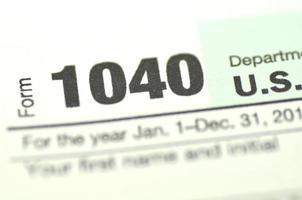 close-up van ons belastingformulieren foto