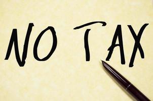 geen belastingtekst schrijven op papier foto