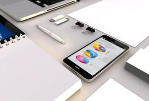 financieel smartphonekantoor foto