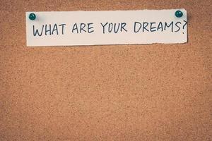 wat zijn je dromen foto