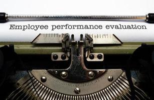 evaluatie van de prestaties van werknemers foto