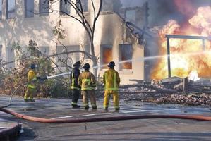 brandweerlieden foto
