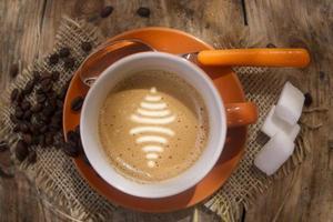 verbinden met een kopje koffie foto