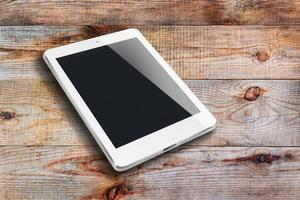 tabletcomputer met zwart scherm. foto