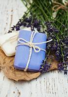 lavendel met zeep foto