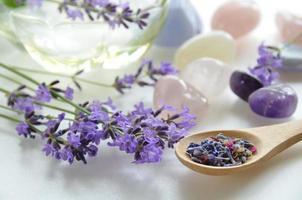 lavendel voor schoonheidsbehandeling foto