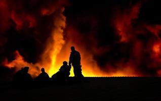 nachtelijke brand foto