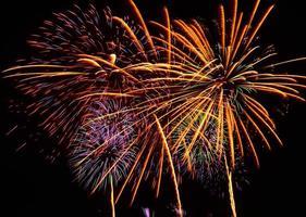 groot vuurwerk evenement. foto