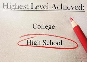 middelbare school rode cirkel foto