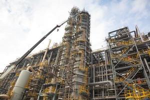 petrochemische of chemische fabrieksstructuur en ontwerp foto