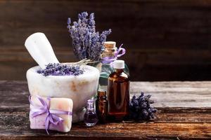 stilleven met lavendel foto
