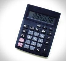 rekenmachine in bedrijfsconcept foto