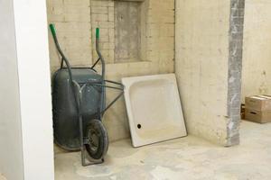 renovatie van een badkamer foto
